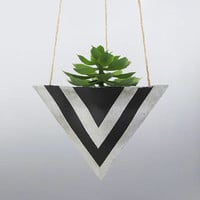 Air Planter, Succulent Planter, Succulent Gift, Hanging Pot, Concrete Planter, Mini Planter, Wall Planter, Unique Planter, Black Planter - L