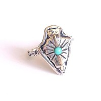 Communion by Joy Guardian Arrowhead Ring in Sterling with Turquoise at ShopGoldyn.com