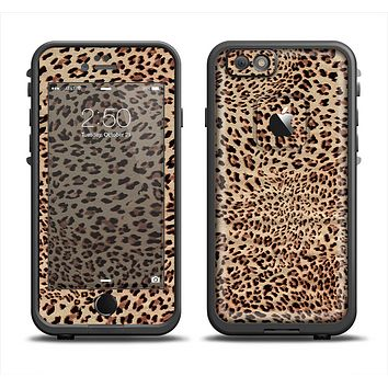 The Brown Vector Leopard Print Apple iPhone 6/6s Plus LifeProof Fre Case Skin Set