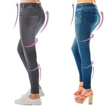 Popular Women Jean Hot sale Genie Slim Jeggings 3 Colors Women Jeggings For Women Fashion Leggings With Two Real Pockets