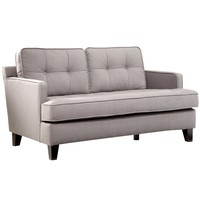 Eden Loveseat In Cement Gray Fabric