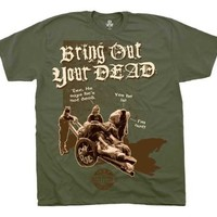 The Monty Python Bring Out Your Dead Military Green Mens T-shirt Tee (Adult XX-Large)
