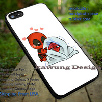 Deadpool and Spider Man Cute Drawing iPhone 6s 6 6s+ 5c 5s Cases Samsung Galaxy s5 s6 Edge+ NOTE 5 4 3 #movie #disney #animated #marvel #comic #deadpool #spiderman dt