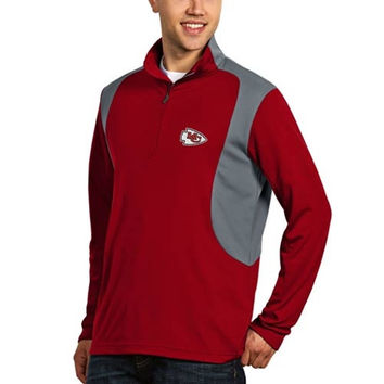 Kansas City Chiefs Antigua Delta Quarter Zip Pullover Jacket - Red