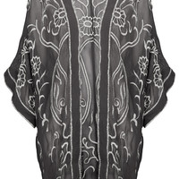 Grey Embroidered Kimono - New In This Week - New In - Topshop