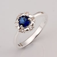 Royal Blue Gem Silver Ring