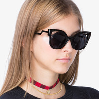 Black Cut Out Sunglasses