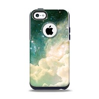 The Cloudy Abstract Green Nebula Apple iPhone 5c Otterbox Commuter Case Skin Set