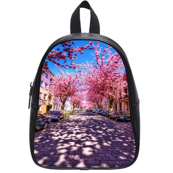Cherry Blossoms Tree School Backpack Large