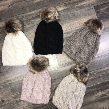 Cable Knit Beanie +COLORS