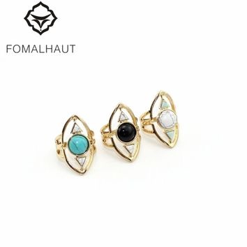 Fashion Hollow triangle greenstone FOMALHAUT The Midi Tip Finger Rings For Women Wedding Rings Party Jewelry 2016 RJ-180