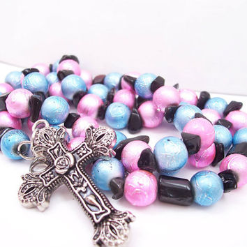 Triple Wrap Cross Bracelet - Christian Jewelry - Metal Cross