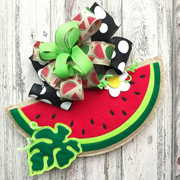 Watermelon Door Hanger,Summer Door Hanger, Burlap door hanger,summer Door wreath,watermelon slice hanger,Summer front door wreath,watermelon