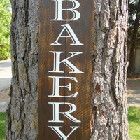 """Joyful Island Creations """"Bakery"""" wood sign/ kitchen sign / neutral colors kitchen signs"""