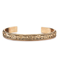 Boho Elephant Open Bangle