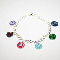 The Avengers Charm Bracelet by fortysecondseal on Etsy