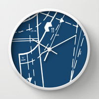 Pattern Master Navy Wall Clock by Project M