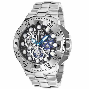 Invicta 15978 Men's Excursion Reserve Black Skeleton Dial Steel Bracelet Chronograph Dive Watch
