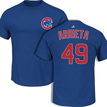 Jake Arrieta Chicago Cubs Royal Youth Player T-Shirt by Majestic Select Youth Size: Small - 6/8