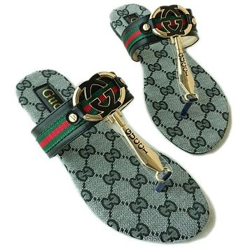 Gucci Women Casual Fashion Flat Sandal Slipper Shoes