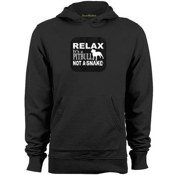 Relax It's A Pit Bull Not A Snake Hoodies - Men's Hoodie Sweater