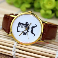 Men and women fashion watches, cowboy watches, the beard watches