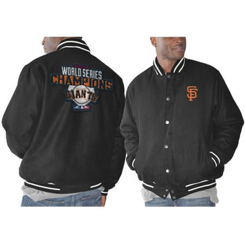 San Francisco Giants 2014 World Series Champions Commemorative Wool Jacket - Black