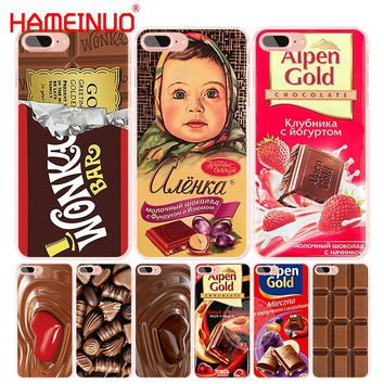 HAMEINUO alenka bar wonka chocolate cell phone Cover case for iphone 4 4s 5 5s SE 5c 6 6s 7 8 X plus