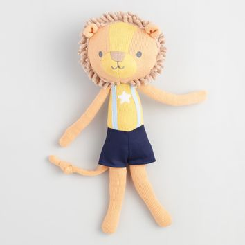 Travel Buddies Knit Plush Lion
