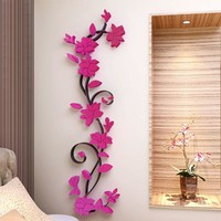 Colorful 3D Flower Removable DIY Rose Stickers Decal Mural Home Room Decors Vinyl Quote Wall Sticker