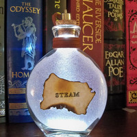 "Once Upon a Fantasy"" Steampunk light up bottles- STEAM"