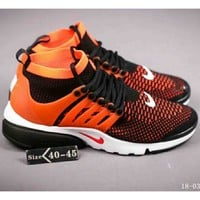 Nike Air Presto Flyknit Ultra Men's and Women's Tide Brand Casual Sports Running Shoes F-A-FJGJXMY orange
