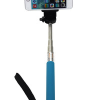 Camera Monopod Selfie Stick 1M for cellphone Apple iphone Multi Colors - Blue