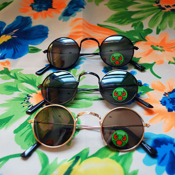 KIDS Hippie Circle Sunglasses Toddler Round Glasses