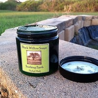 Soothing Earth Herbal Clay Facial Mask, Lemongrass, Eucalyptus, & Sage