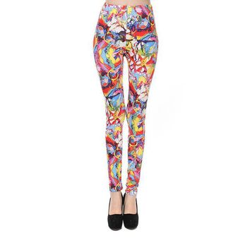 Abstract Colors Pattern Paint Women's Leggings Yoga Pants