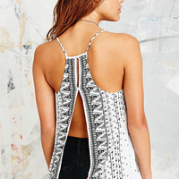 Ecote Open Back Cami in White - Urban Outfitters