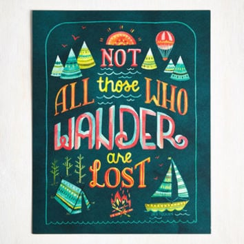 Sayings Full of Wander Print by ModCloth