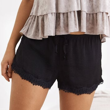 Aerie Satin Boxer, True Black