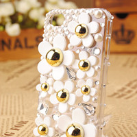 Gullei Trustmart : iPhone4 3GS Daisy Flower Shell Skin Cover
