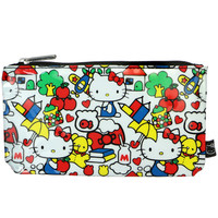 HELLO KITTY OLD SCHOOL PRINT POUCH