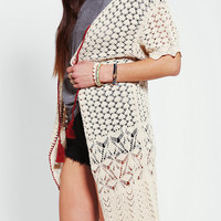 Urban Outfitters - Ecote Pointelle Duster Cardigan