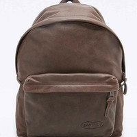 Eastpak PakR Padded Leather Backpack in Chocolate - Urban Outfitters