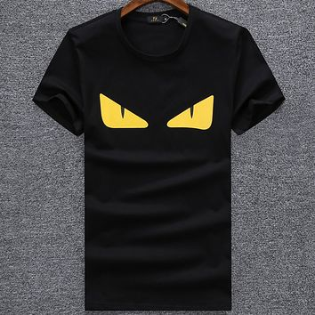 Fendi Men Fashion Casual Letter Shirt Top Tee