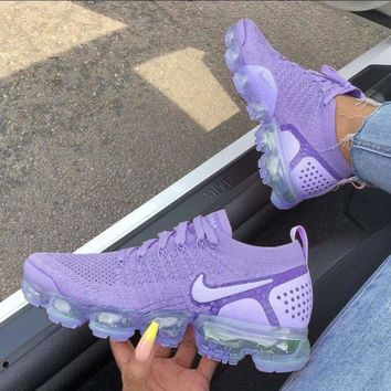 Nike Air Vapormax Flyknit 2.0 Trending Women Casual Air Cushion Running Sport Shoes Sneaker Purple