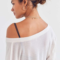 Truly Madly Deeply Waffle Knit Henley Top | Urban Outfitters