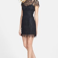 MINKPINK 'Surrender' Illusion Yoke Lace Dress
