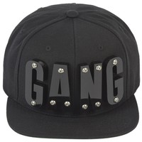 Adeen Black gang appliqu� cap