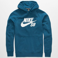 Nike Sb Icon Mens Hoodie Blue  In Sizes