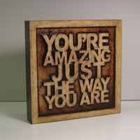 One of a Kind Carved Lyric Art Block -- Experimental Item - I Will Not Make More Like This - Sale Price